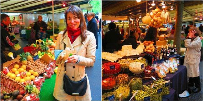 Marché biologique des Batignolles Paris market