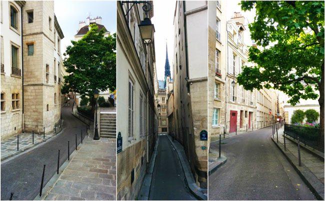 Narrow alleys on ile de la cite il saint louis Paris