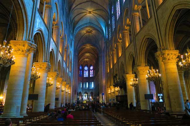 Notre Dame Paris interior