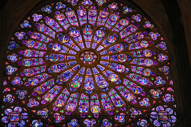 Notre Dam Paris Stained Glass Rose Window