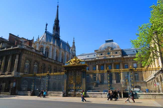 palais de justice and sainte chapelle paris