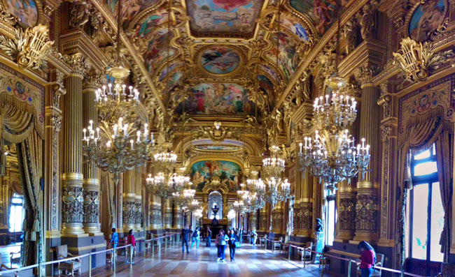 Visiting Palais Garnier Grand Foyer panoramic view