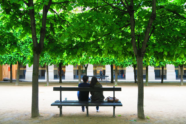 Paris romantic spot Jardins du Palais Royal Paris
