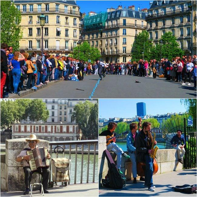 Paris street performers