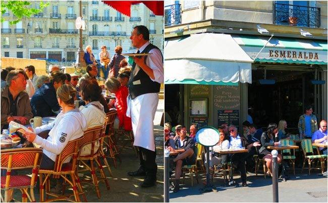 Paris sunny cafes