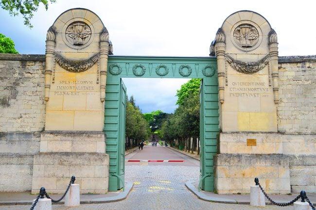 Pere-Lachaise-Cemetery-Paris-Enterance