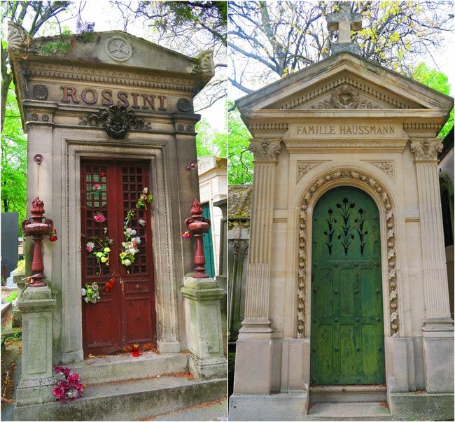 Pere Lachaise Cemetery Paris Haussmann Rossini grave