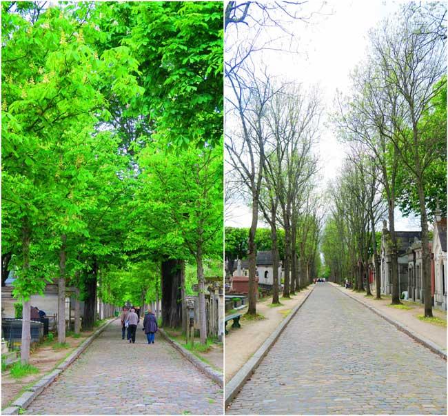 Pere Lachaise Cemetery Paris lanes
