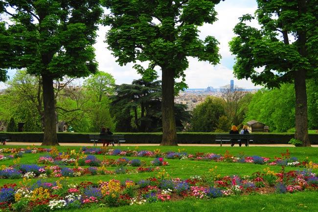 Pere Lachaise Cemetery Paris lookout