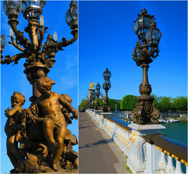 Pont Alexandre III Statues Paris