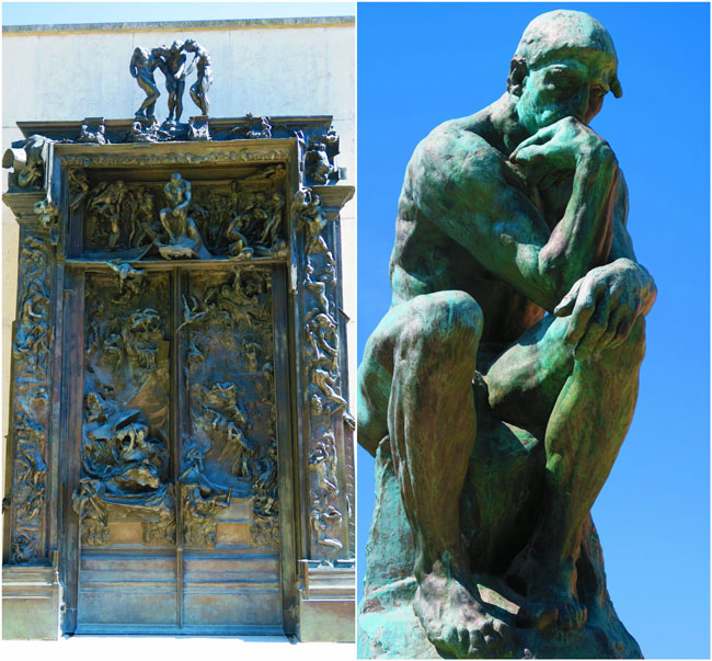 Rodin the thinker and gates of hell Paris
