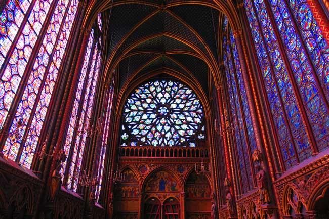 sainte chapelle paris rose window