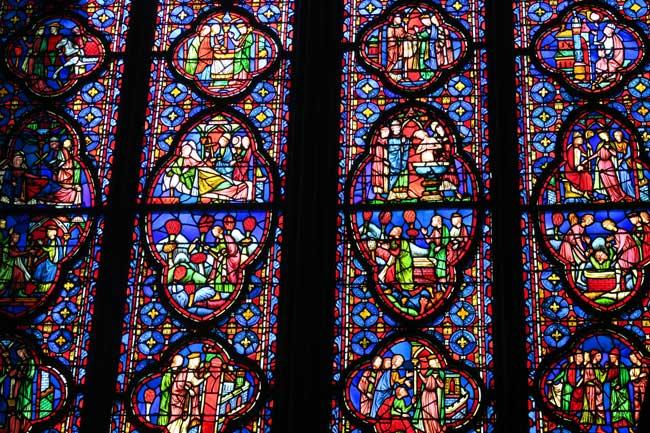 sainte chapelle paris stained glass close up