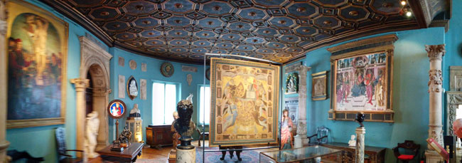 The Sculpture Gallery panormamic view Musee Jacquemart Andre Paris museum
