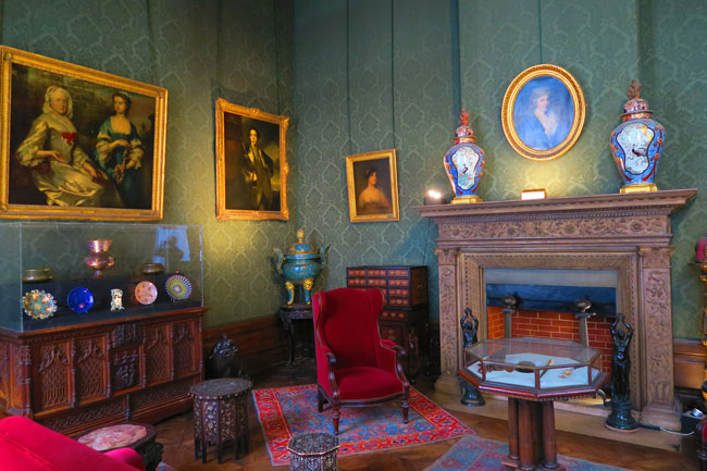 The smoking room at the Musee Jacquemart Andre Paris museum