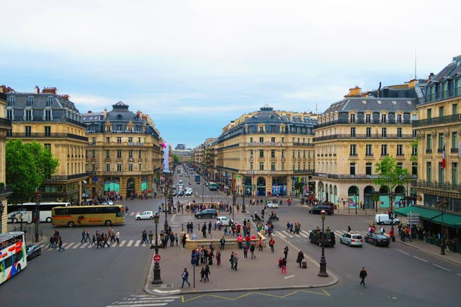 View from Opera Garnier Paris