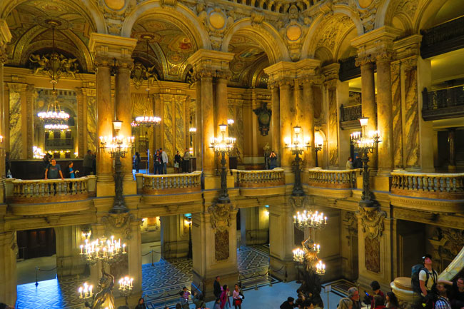 View from the top of the Grand Staircase Opera Garnier Paris