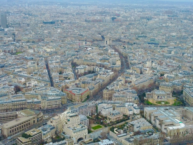 View from top of Eiffel Tower Paris2
