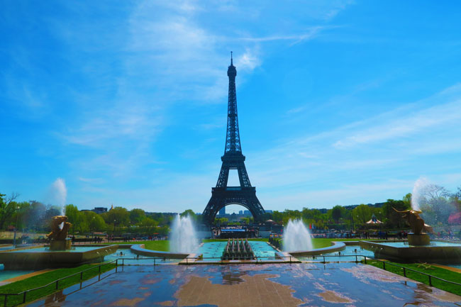 View of Eiffel Tower from Trocadero Paris