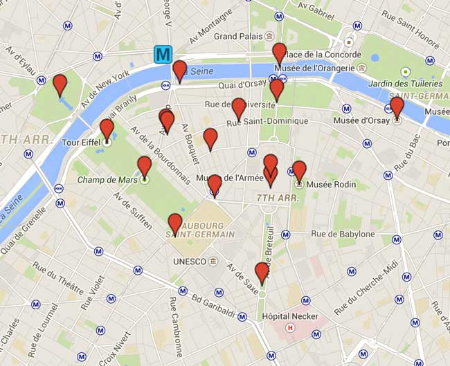 Exploring the 7th Arrondissement Paris Map