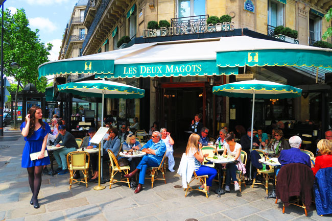 Café Les Deux Magots saint Germain Paris