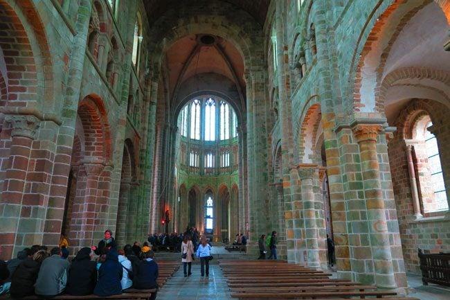 church at mont saint michel abbey