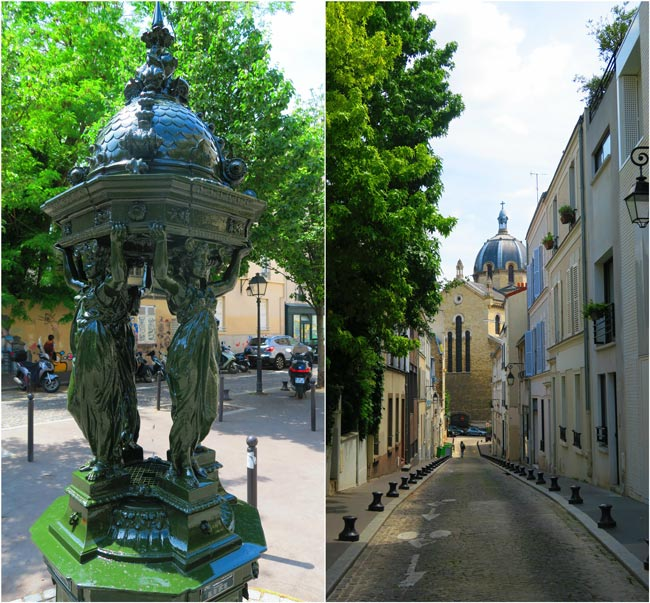Classic Paris water fountain