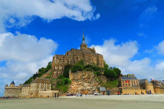 closeup view mont saint michel