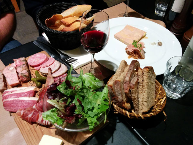 Comptoir de la Gastronomie foie gras and cured meat