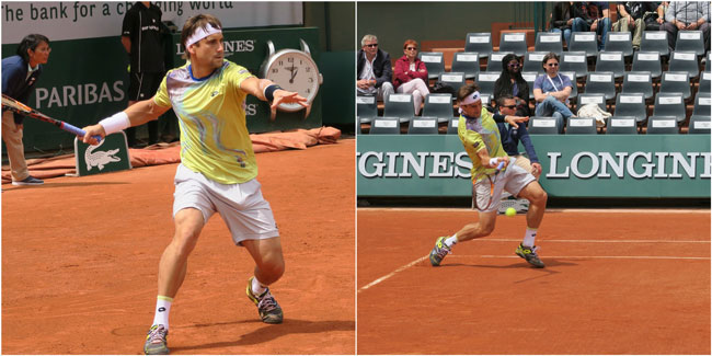 David Ferrer at rold garros