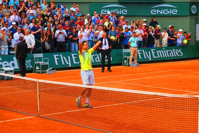 david ferrer roland garros celebrating