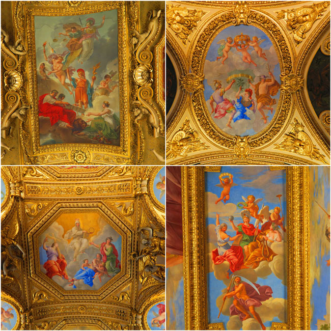 denon wing louvre golden fresco ceiling