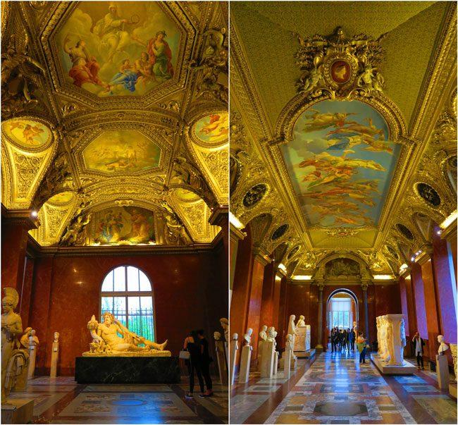 Denon wing louvre golden halls