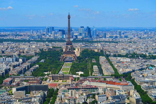 Eiffel Tower from Montparnasse Tower Paris
