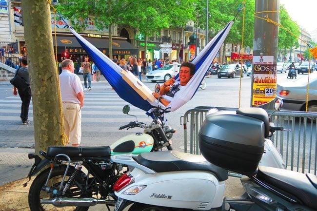 fete de la musique paris music festival guy in hammock