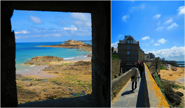 fort national and walk on city wall saint malo