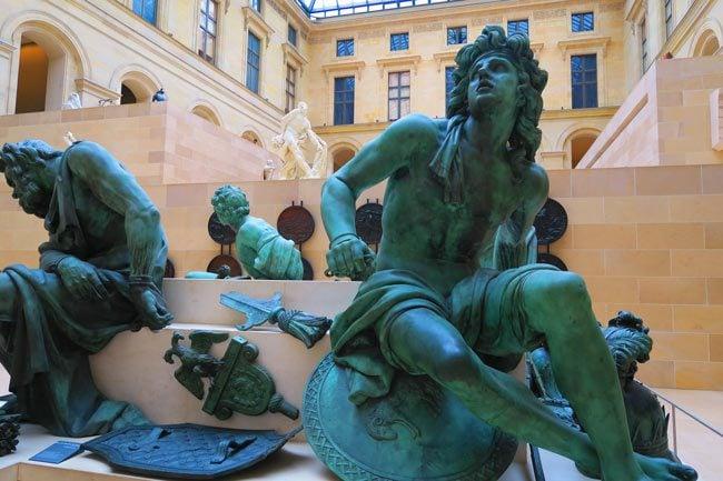 French bronze sculpture Richelieu Wing