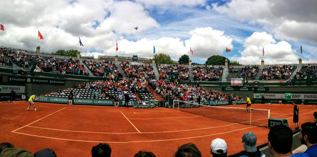 Going to the Roland Garros - panormaic cover