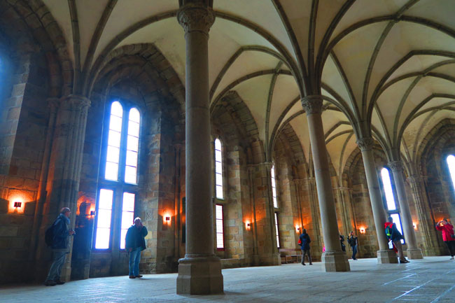 guest hall mont saint michel abbey