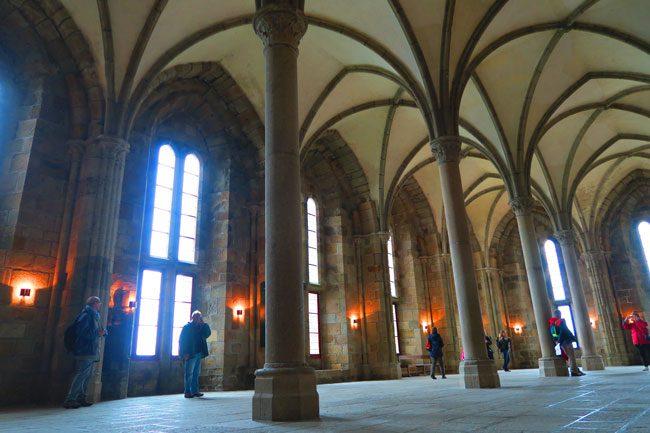 guest hall mont saint michel abbey