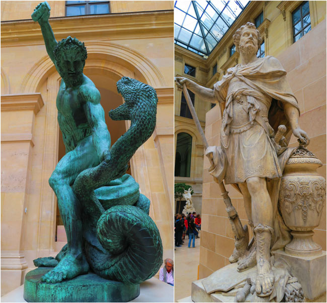 Hercules and spartacus Richelieu Wing louvre