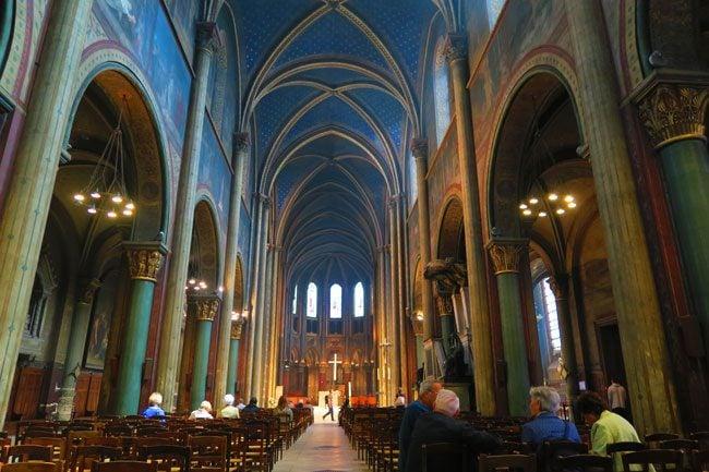 Inside Church of Saint Germain des Prés
