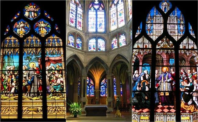 Inside Church of St-Severin Paris