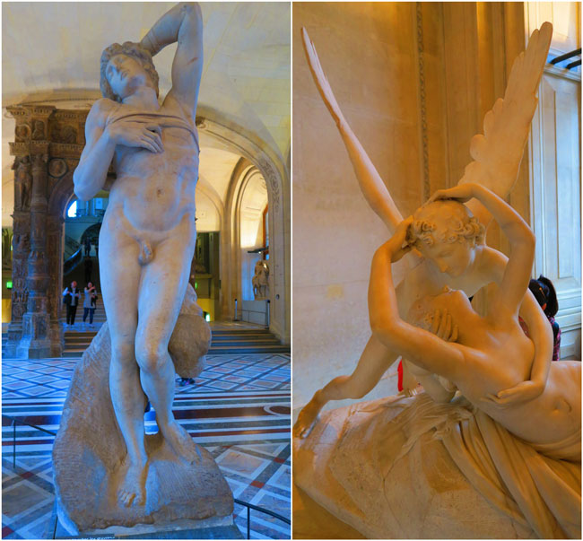 Italian sculptures in Louvre museum