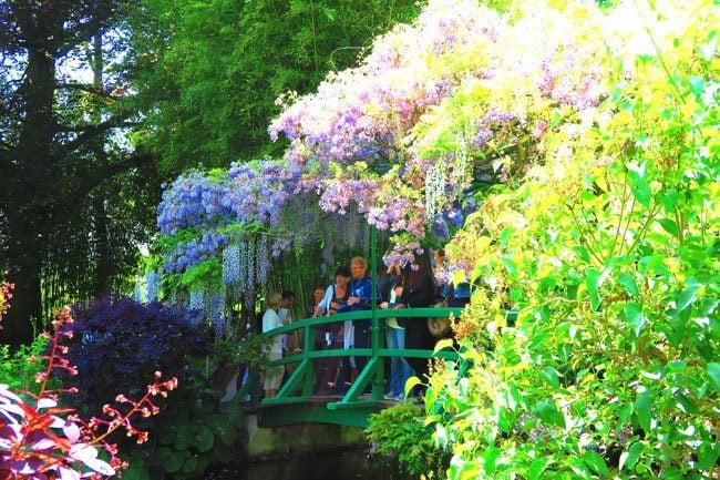 Japanese bridge closeup monet garden giverny