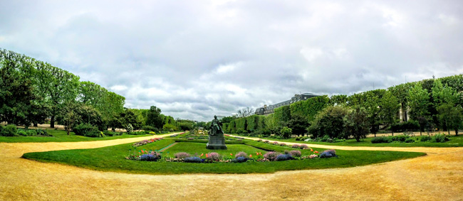 Jardin des Plantes Paris panoramic view