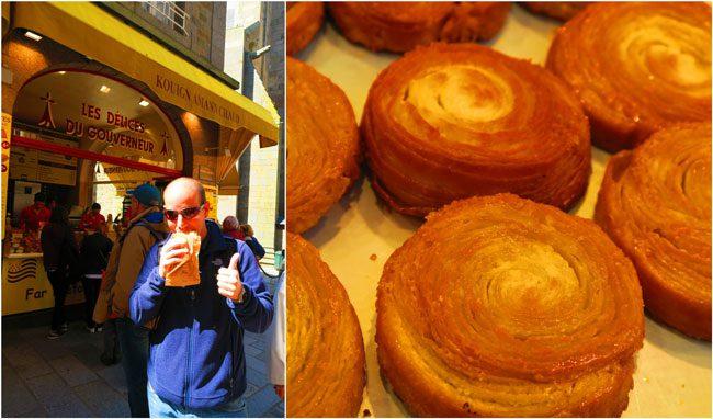 kouign-amann pastry in brittany saint malo les Délices du Gouverneur