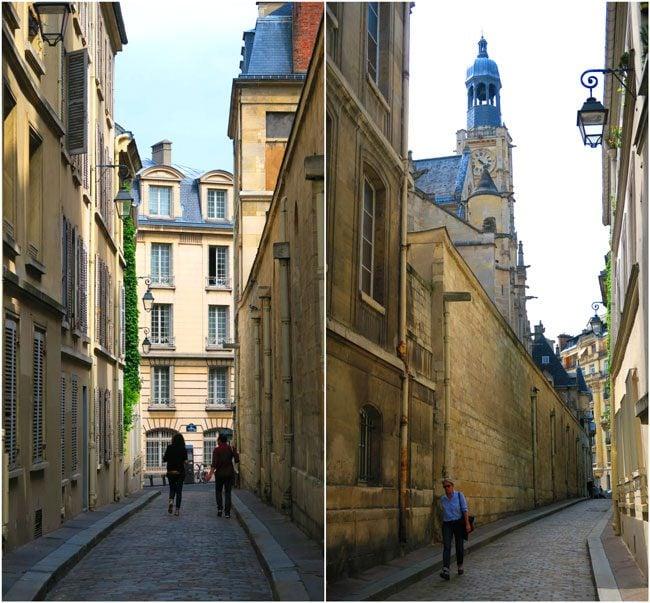 Latin Quarter Medieval narrow lanes