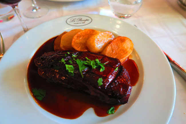 Le Procope Paris restaurant duck breast