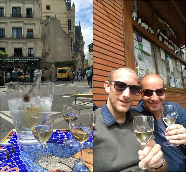 Les Pipos wine bar Latin Quarter Paris